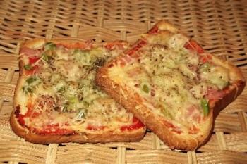πιτσάκια με ψωμί τόστ